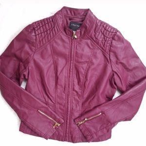 Therapy Burgundy Leather Jacket